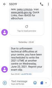 Jamb Reschedule